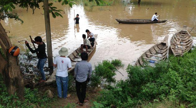 cambogia, cambodia, mekong, kampong cham, flooding, rainy season, viaggi