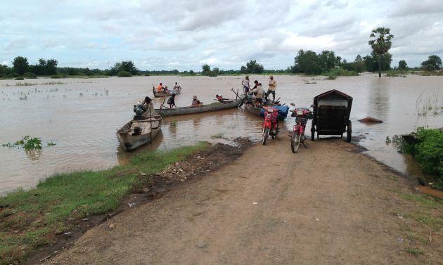 cambogia, cambodia, mekong, kampong cham, flooding, rainy season, cambodge, viaggi, asia