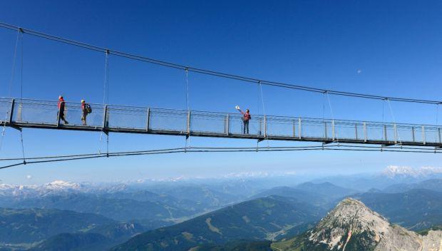 die neue Hängebrücke am Dachstein